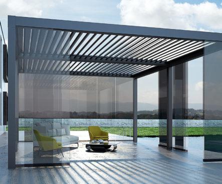 AXIS pergola-nowoczesna pergola aluminiowa z dachem lamelowym, nowoczesne zadaszenie tarasu