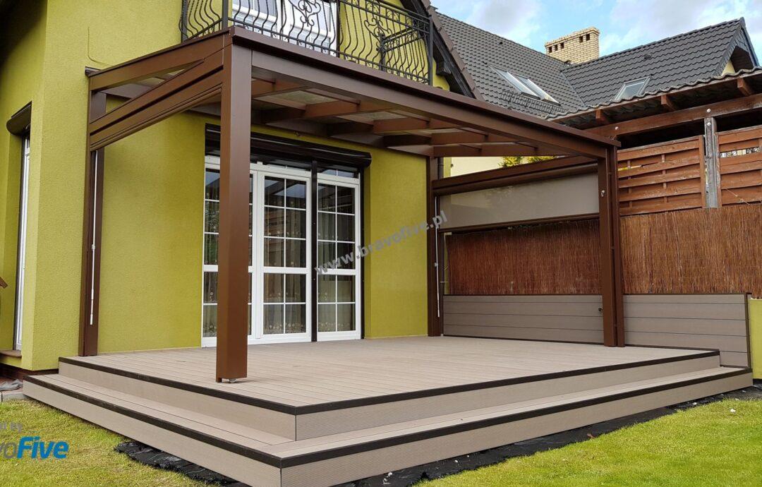 nowoczesne zadaszenie tarasu model AVANGARDE-taras kompozytowy- nowoczesne zadaszenie tarasu z drewna klejonego