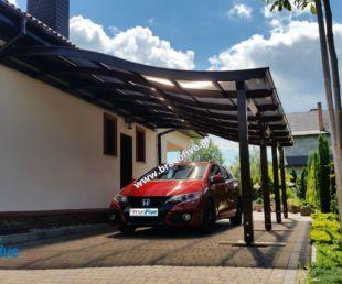 wiata garażowa, model S, wiata z drewna klejonego, nowoczesna wiata garażowa, zadaszenie tarasu