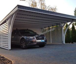 nowoczesna wiata garażowa, carport, model MODERNO