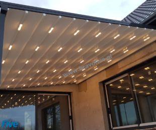 nowoczesne zadaszenie tarasu- oświetlenie LED- zadaszenia tarasowe- pergole aluminiowe- zadaszenie z otwieranym dachem