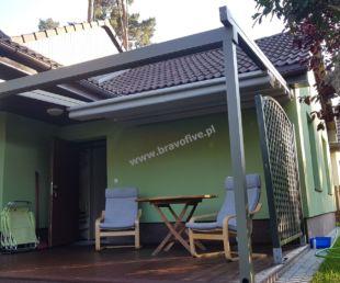 nowoczesne zadaszenie tarasu-pergola tarasowa-zadaszenie z ruchomym dachem