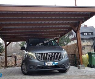 nowoczesna wiata garażowa - carport z drewna - drewniana wiata garażowa